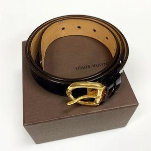 Authentic Louis Vuitton Amarante Vernis Belt 90